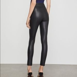 BCBG black leather pants size Small